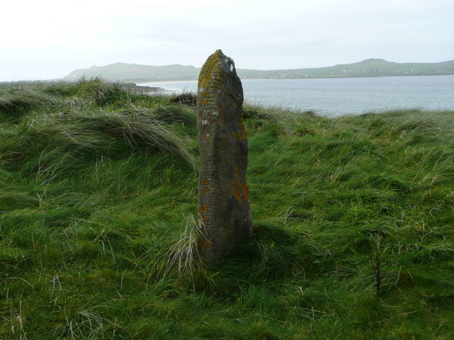 Ogham Stone near Traigh an Fhiona