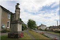 SO2160 : High street past the memorial by Bill Nicholls