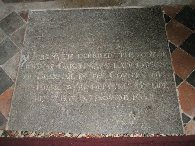 St Peter, Blaxhall- very ancient floor memorial