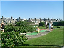 NS3321 : Crazy golf at Ayr Esplanade by Stephen Sweeney
