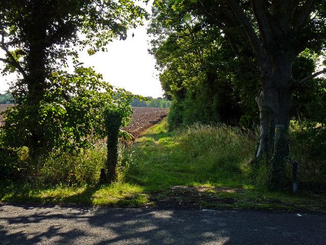 Footpath at the edge of HMP Kirklevington