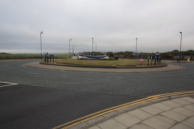 Roundabout on the A1085 road