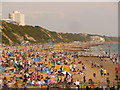 SZ0890 : Bournemouth: beach busyness by Chris Downer