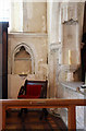 TQ4459 : St Peter & St Paul, Cudham, Kent - Piscina by John Salmon