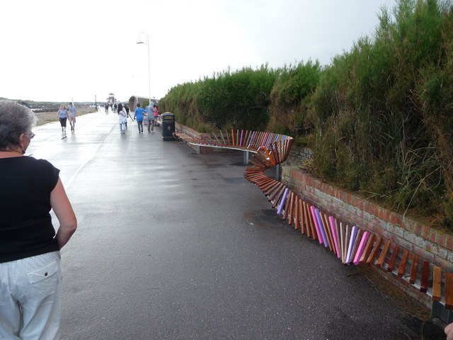 Part of the 'Million Pound Bench', Littlehampton by Jeremy Bolwell
