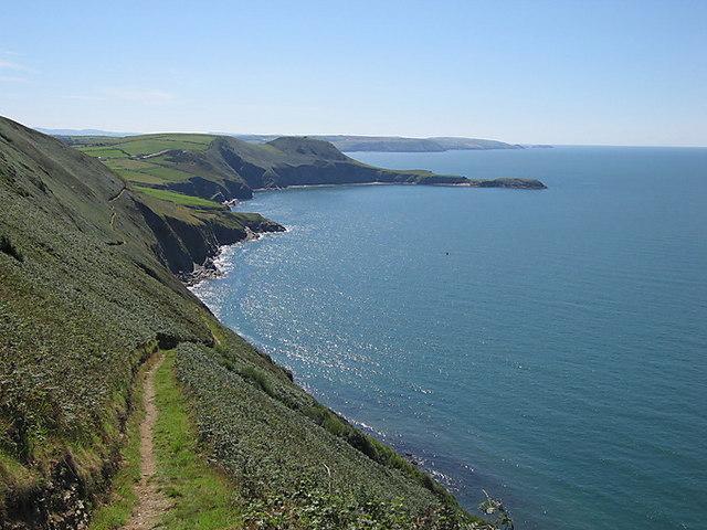 Ceredigion coast path between Cwmtydu and Llangrannog