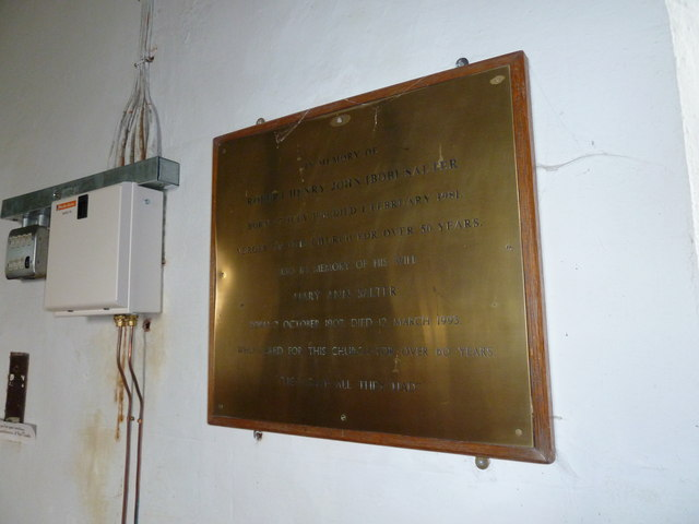 St Mary Magdalene, Friston: memorial to two parish stalwarts