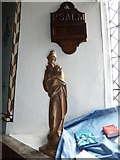 TM4160 : St Mary Magdalene, Friston: carving by Basher Eyre