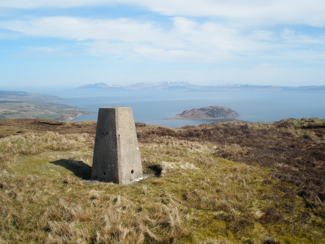 Trig Point on Beinn Ghuilean