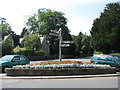 ST5656 : Flowerbed by the road junction in West Harptree by Sarah Charlesworth