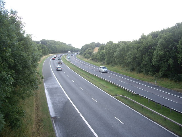 Southbound A1(M), near Cleasby
