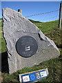 SN3255 : Ceredigion coast path plaque by Rudi Winter