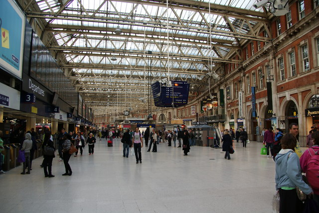 The station concourse, Waterloo