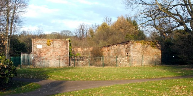 Remains of stables and coach house