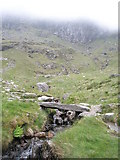 SH6459 : Stone bridge on Glyder Fawr by Chris Worsley