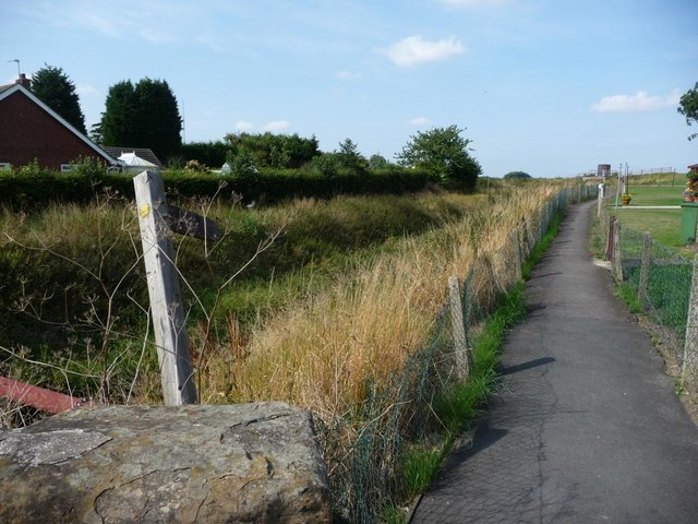 Footpath alongside Reedness Drain