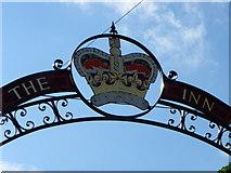 ST8993 : Sign for the Crown Inn, Tetbury by Maigheach-gheal