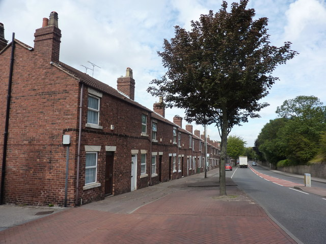Terraced cottages, Chesterfield Road, Pleasley