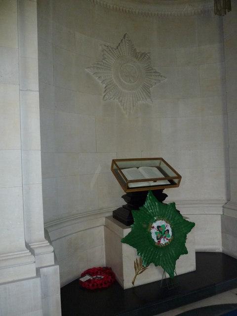 Guards Chapel: Irish Guards, book of remembrance