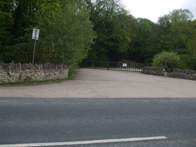 Gated entrance to Brotherton Quarry