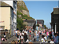 TQ8209 : Crowds on Rock-A-Nore Road by Oast House Archive