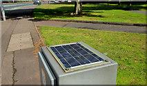 J3471 : Small solar panel, Belfast (2) by Albert Bridge