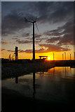 SY6774 : Wind Turbine, Portland Marina, Portland, Dorset by Christine Matthews