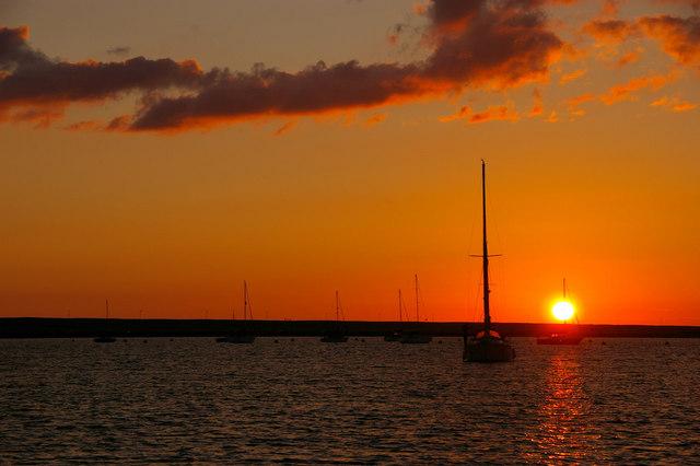 Sunset at Portland Marina, Portland, Dorset