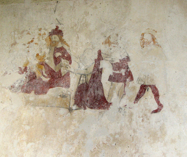 Holy Trinity church in Great Hockham - C14 wallpainting