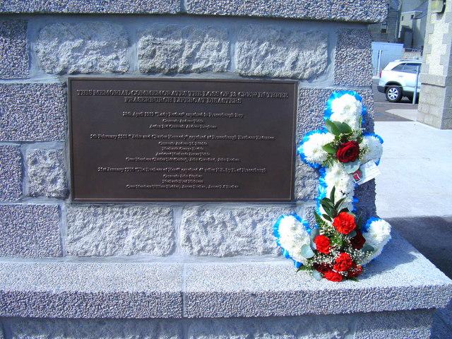 Fraserburgh Lifeboat Memorial Plaque
