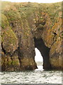 SN1300 : Tenby: view through St. Catherine's Island by Chris Downer