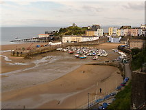 SN1300 : Tenby: classic view over harbour by Chris Downer