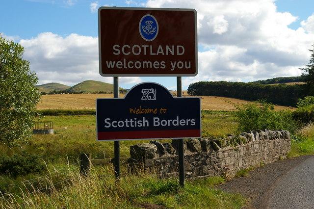 Border Road Sign