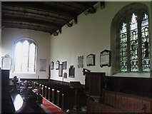 NY7863 : St. Cuthbert's Church, Beltingham - interior, north wall by Mike Quinn