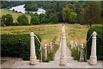 TQ1873 : Steps on the Terrace, Richmond Hill by Peter Trimming