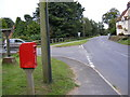 TM3060 : B1116 Framlingham Road & Framlingham Road Postbox by Adrian Cable