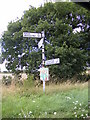 TM3163 : Roadsign on the B1119 Saxmundham Road by Adrian Cable