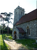 TM3669 : St Peter, Sibton- church porch by Basher Eyre