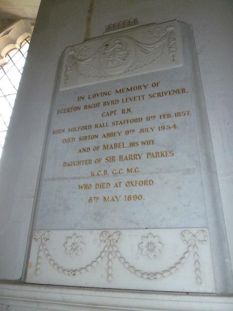 St Peter, Sibton- memorial (6)