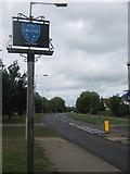 TR1366 : Chestfield Village Sign by David Anstiss
