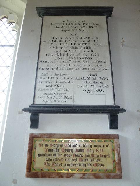 St Peter, Sibton- memorial (9)