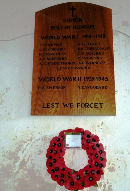 St Peter, Sibton- war memorial