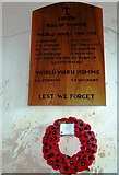TM3669 : St Peter, Sibton- war memorial by Basher Eyre
