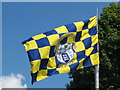 R6461 : Clare County GAA flag at road junction by David Hawgood