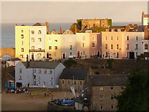 SN1300 : Tenby: sunniness above the harbour by Chris Downer