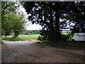 TM4274 : Footpath to New Farm & entrance to Church Farm by Adrian Cable