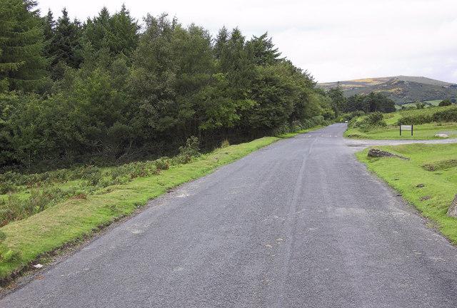 Road beside Venford Reservoir
