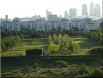 TQ4179 : View of Thames Barrier Park. by Anon