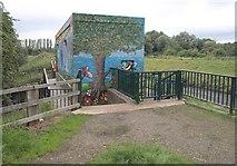 SJ8092 : Flood defence building, Sale Ees by Derek Harper