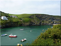 SW9980 : Across Port Isaac harbour by Richard Law